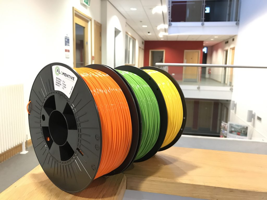 New Filamentive High Quality Recycled PLA Filament Colours for 3D Printing